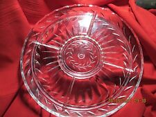 """divided serving/ relish tray 13.5"""" glass"""