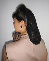 Filet à cheveux snood pinup retro vintage en crochet noir coiffure 40/50's