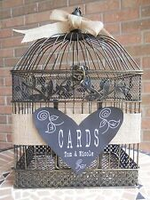 wedding card holder birdcage burlap card holder chalkboard wedding supplies