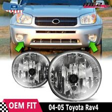 For Toyota RAV4 04-05 Factory Bumper Replacement Fit Fog Lights  Clear Lens