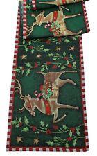Rowan Reindeer Tapestry Style Christmas Table Runner