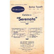 CELEBRE SERENATA Partition pour chant Pierre D'AMOR musique Enrico TOSELLI 1919