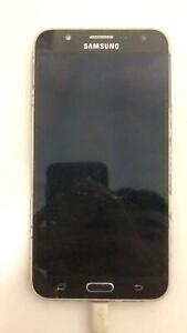 Samsung Galaxy J7 Smartphone used 16GB Black Cracked Screen Repair or parts