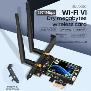 3000Mbps Intel AX200 wifi 6 PCIE Card 802.11ax PCI WiFi Bluetooth 5.0 PC adapter