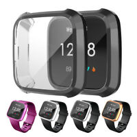 CG_ Durable Frame Guard Screen Protector Smartwatch Cover for Fitbit Versa Lite