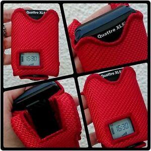 Meldertasche aus Feuerwehrschlauch Swissphone Quattro / rot