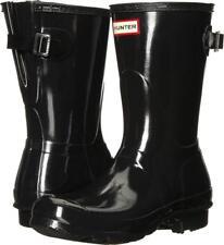 Hunter Women's WFS1013RGL Black Adjustable Short Gloss Rain Boots Size 7 US