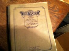 #C-55  OLD MUSIC BOOK HYMNAL THE VOICE 1924