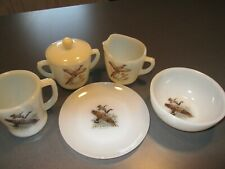 """27 Piece - Fire King Game Bird """"CANADA GOOSE"""" - 4 Place Setting - 1959-1962"""