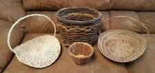 Lot of Assorted Wicker Woven Baskets Crafts Easter Flowers
