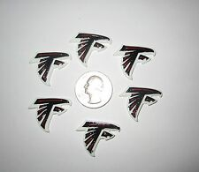6 NEW ATLANTA FALCONS FLAT BACK RESINS CABOCHONS *SHIPS FREE* *USA SELLER*