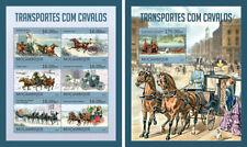 Transport Horses Conductor Circus Animals Fauna Mozambique MNH stamp set