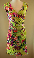 EXQUISITE Ronni Nicole Lime Green Pink Coral Black White Brown Summer Dress 6