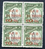 CHILE - COLUMBUS SOFICH # 81 Block of 4, Printed of Both sides, MNH, VF
