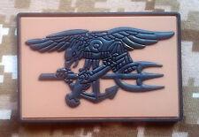 "STRG NAVY SEALS 3D emblem PVC rubber 3"" x 2"" Team 6 Patch DCU  MOLLE Hook Back"