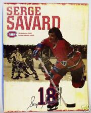 PROGRAM Serge Savard * number 18 * from his retiring jersey night (banner night)