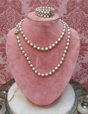 VINTAGE 1960's Signed *MIRIAM HASKELL BAROQUE PEARL Demi-Parure SUPERB CONDITION