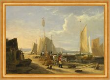 Harbor Scene in the Isle of Wight Vincent Inghilterra porto barche navi B a3 02050