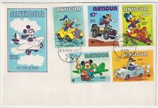 1980 Antigua FDC - Walk Disney - 5 Stamps