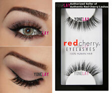 Lot 6 Pairs GENUINE RED CHERRY Nude Onyx Human Hair Lashes Black False Eyelashes