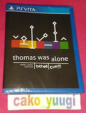 THOMAS WAS ALONE PS VITA LIMITED RUN #23 NEUF NEW VERSION US 4000EX