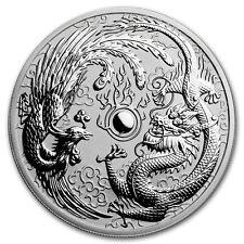 1oz AUSTRALIAN Dragon e Phoenix, 999.9 BELLA MONETA D'ARGENTO, 2017