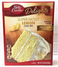 Betty Crocker Delights Super Moist Lemon Cake Mix 15.25 oz