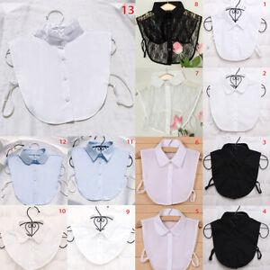 Women Shirt Fake Collar Tie Detachable False Collar Lapel Costume DIY Accessory*