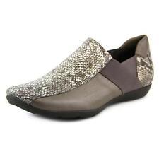 Zapatos planos de mujer mocasines de piel color principal gris