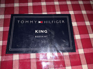 NEW TOMMY HILFIGER KARIN RED PLAID  KING  BED SKIRT NIP