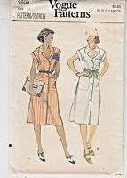 Vogue Misses Dress Loose Fit Straight Sewing Pattern 9800 Size 14 Uncut Vintage