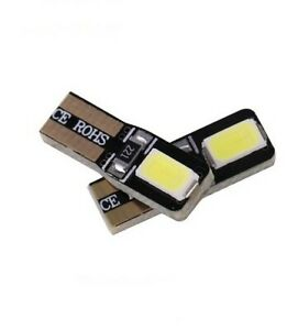 2 ampoules T5 LED W Extra Blanc Canbus Veilleuses Cob Miroirs lampe tableau bord