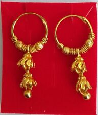 Stylish Fashion Hoop Earrings WomenJewelry Indian Traditional Ethnic Gold Plated