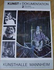 GERMAN EXHIBITION POSTER 1980 - FRANCIS BACON - SCREAMING POPE 1951 - art print