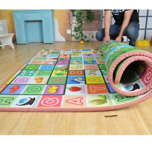 Large Play Mat 2 Sided Baby Kids Crawling Educational Soft Foam Game Carpet Gift