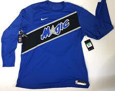Nike Orlando Magic Dri Fit Long Sleeve Dri Fit Performance Shirt Sz XL