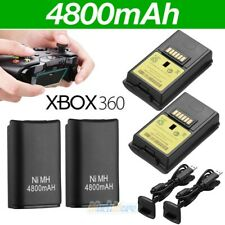 4x 4800mAh Battery Pack&Charger Cable For Microsoft Xbox 360 Wireless Controller
