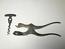 More details for antique lever corkscrew 'london lever' rare version marked 'tc' great patina