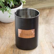 18cm Large Black & Copper Kitchen Utensil Caddy Holder Jar Cutlery Pot Storage