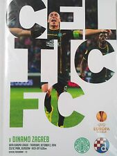 Celtic v Dinamo Zagreb October 2nd 2014 Uefa Europa League Mint condition