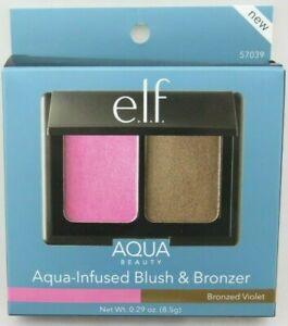 E.L.F.  Aqua Beauty Aqua-Infused Blush & Bronzer - Bronzed Violet 0.29 oz