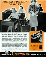 1943 Women Office Workers Rotary safe & Lock files vintage Photo Print Ad adL48