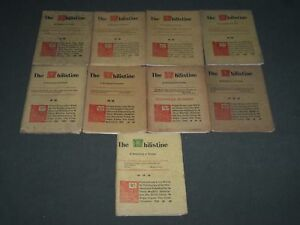 1898 THE PHILISTINE MAGAZINE LOT OF 9 ISSUES - BY ELBERT HUBBARD - WR 709L