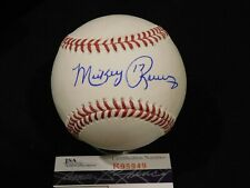 MICKEY RIVERS Signed / Autographed Official Major League Baseball JSA COA