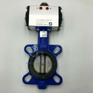 """6"""" DN150 Double Acting Pneumatic Butterfly Valve Wafer Type EPDM Sealing"""