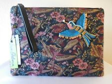 New SAM EDELMAN RHEA Majestic Bird Jacquard Clutch, Pouch, Bag