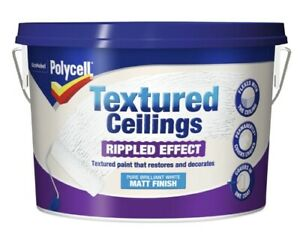 Polycell Textured Ceilings Ripple Effect Matt Finish 2.5L Paint - White