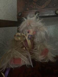 BearlyThereHugs, Candy Floss, Pink, Ooak, Long Mohair Bear
