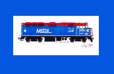 "Metra F40PH #147 Operation Lifesaver 11""x17"" Matted Print Andy Fletcher signed"
