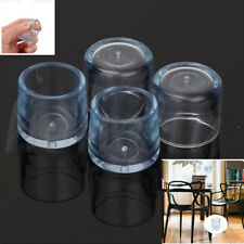 4Pcs Rubber Furniture Table Chair Leg Floor Feet Cap Cover Protector Transparent